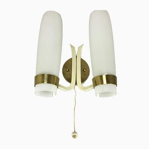 Mid-Century Brass Wall Light, 1960s