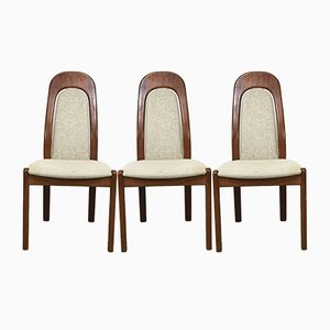 Mid-Century Danish Teak Dining Chairs, 1970s, Set of 3