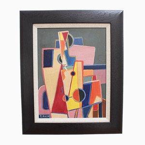 Abstrakte Komposition von E. Roth, 1950er