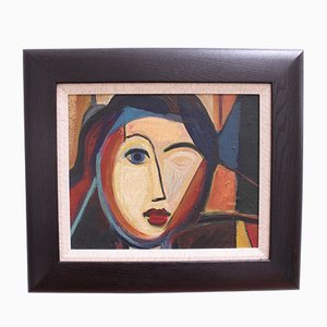 Blauäugige Frau, 1950er