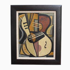 Stilleben mit Gitarre von Lacoste, 1950er
