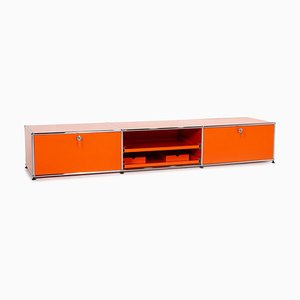 Orangefarbenes Modulares Metall Sideboard von USM Haller