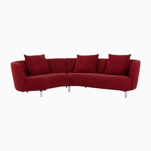 Dark Red Fabric Curl 602 Corner Sofa from Rolf Benz