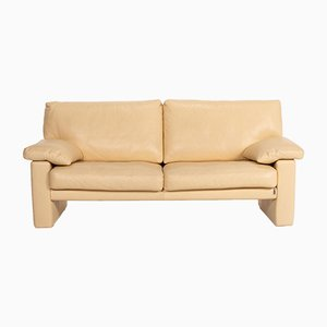Beige Leather 2-Seat Sofa from Erpo