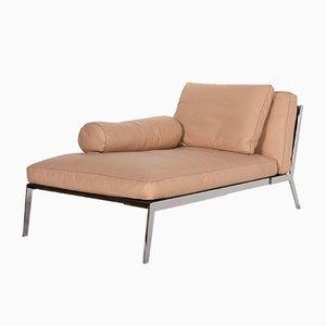 Chaise Lounge Happy Chaise en cuero beige de Flexform