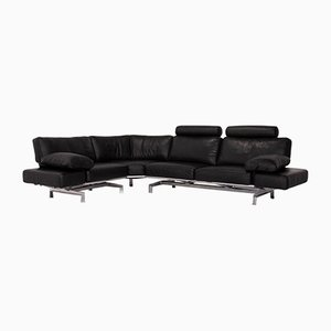 Black Gaetano 687 Corner Relax Function Sofa from WOH