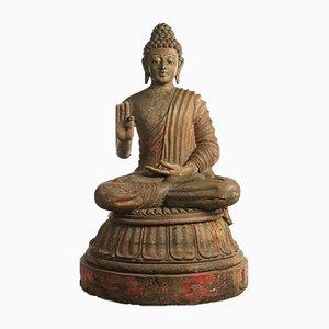 19th Century Wooden Buddha