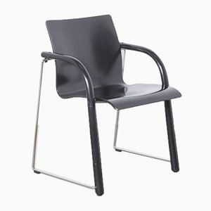Black S320 Chair by Wulf Schneider and Ulrich Boehme for Thonet, 1980s