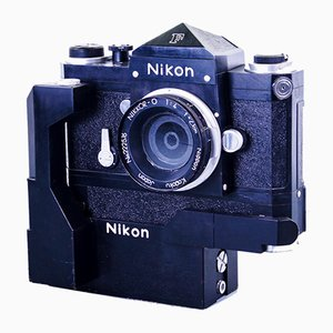 Huge Scaled Handcrafted Nikon F Photomic FTN in Wood, 1970s