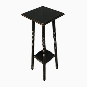 Black Plant Table with Ball Feet