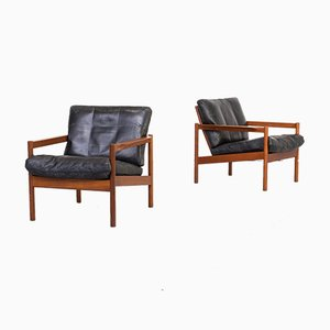 KK161 Armchairs by Kai Kristiansen for Magnus Olesen, 1960s, Set of 2