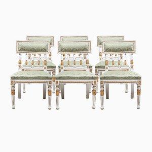 Chaises de Salon Antiques Gustaviennes, Set de 6