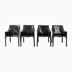 CAB-413 Dining Chairs by Mario Bellini for Cassina, 1970s, Set of 4