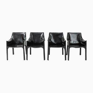 CAB-413 Esszimmerstühle von Mario Bellini für Cassina, 1970er, 4er Set