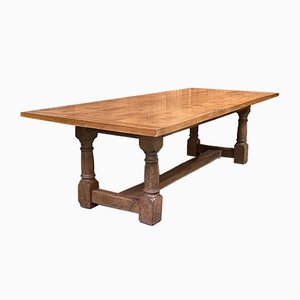 Vintage English Oak Dining Table