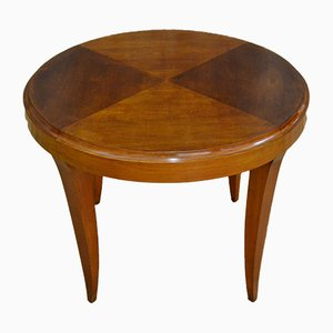 Italian Round Beech Coffee Table, 1950s
