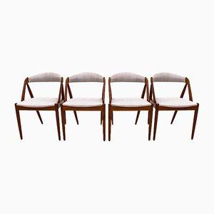 Chaises de Salon Modèle 31 par Kai Kristiansen pour Schou Andersen, 1960s, Set de 4