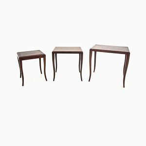 Rosewood and Walnut Nesting Tables, 1960s