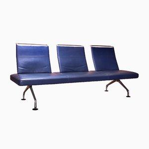 Vintage 3-Sitzer Ledersofa von Antonio Citterio für Vitra, 1960er