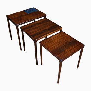 Rosewood Nesting Tables, 1970s