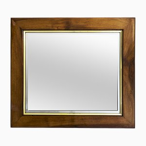 Art Deco Nutwood Wall Mirror, 1920s