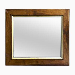 Specchio da parete Art Déco in legno di noce, anni '20