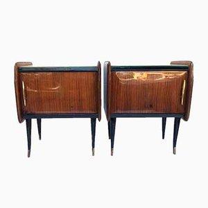 Italienische Nachttische aus Marmor & Glas, 1950er, 2er Set