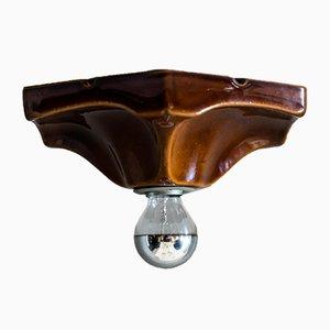 Deutsche Keramik Deckenlampe von Hustadt Leuchten, 1970er
