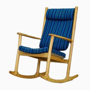 Vintage Danish Ash Rocking Chair by Kurt Østervig for Slagelse Møbelværk, 1960s
