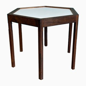 Scandinavian Danish Hexagonal Rosewood Nightstand, 1950s