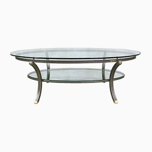 French Oval Coffee Table by Pierre Vandel, 1970s