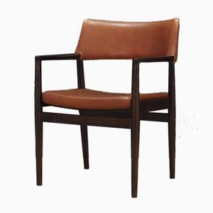 Vintage Esszimmerstühle aus Eiche & Leder von Erik Wørts für Sorø Stolefabrik, 1960er, 4er Set