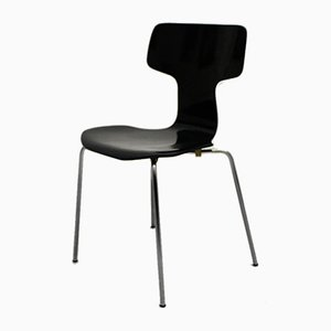Scandinavian Modern Black Lounge Chairs by Arne Jacobsen for Fritz Hansen, 1970s, Set of 2