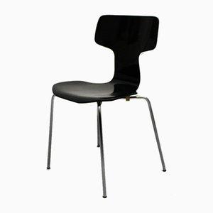 Sillones escandinavos modernos negros de Arne Jacobsen para Fritz Hansen, años 70. Juego de 2