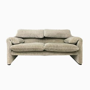Vintage Maralunga 2-Sitzer Sofa von Vico Magistretti für Cassina, 1970er