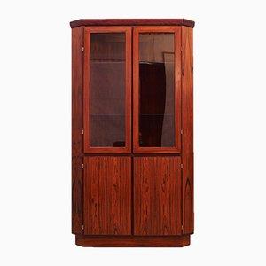 Vintage Rosewood Corner Cabinet, 1970s