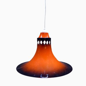 Danish Pendant Light in Orange, 1960s