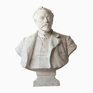 Mid-Century Plaster Bust of a Gentleman