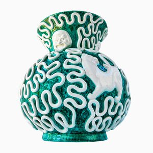 Art Deco Vase von Rene Buthaud für Sainte Radegonde, 1920er