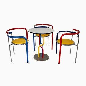 Vintage Modern Dining Table & Chairs by Rud Thygesen & Johnny Sørensen for Botium, Denmark, 1990s, Set of 4