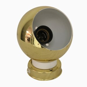 Goldfarbene Magnetkugel Lampe, 1966