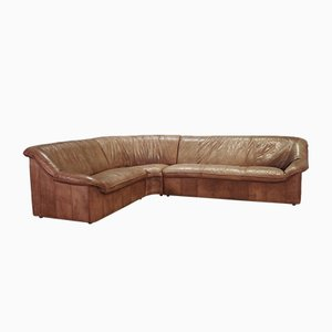 Leather Corner Sofa, 1970s