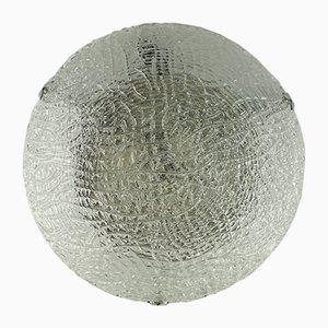 Lampe à Fixation Encastrée en Verre & Chrome, 1960s