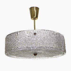 Lampada da soffitto vintage in vetro di JT Kalmar per Kalmar, anni '60