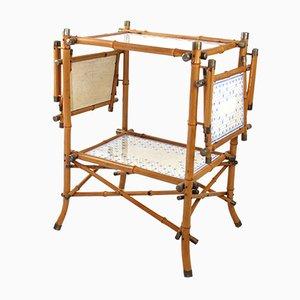 Tavolo antico in bambù di Copeland Garrett, Inghilterra, inizio XX secolo