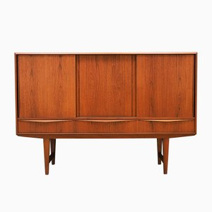 Mid-Century Danish Teak Highboard by E. W. Bach, 1960s