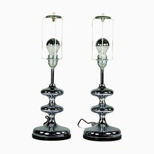 Mid-Century Bubble Tischlampen aus Chrom, 1960er, 2er Set