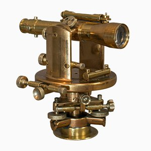 Vintage English Bronze and Brass Theodolite from Watts & Son, 1940s