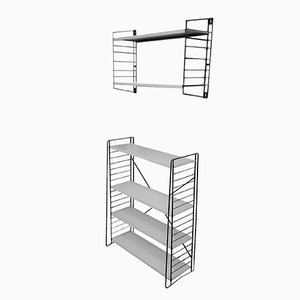 Black & White Shelving Set by A. D. Dekker for Tomado, 1950s, Set of 2