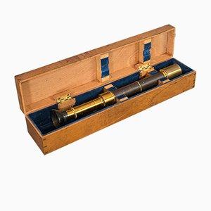 Espectrómetro francés antiguo de latón de JG Hofmann, década de 1860
